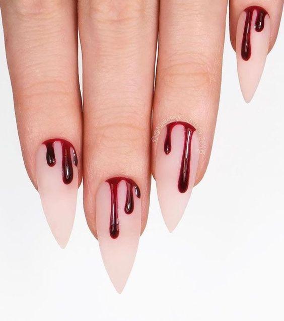 nail art halloween sang