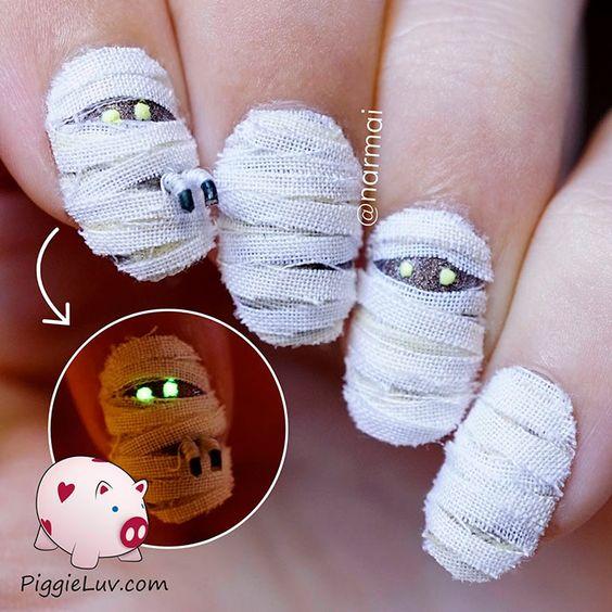 nail art halloween zombie 2